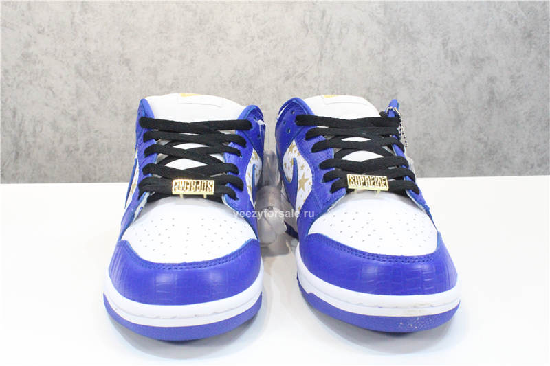 God Version Supreme x Nike SB Dunk Low Blue